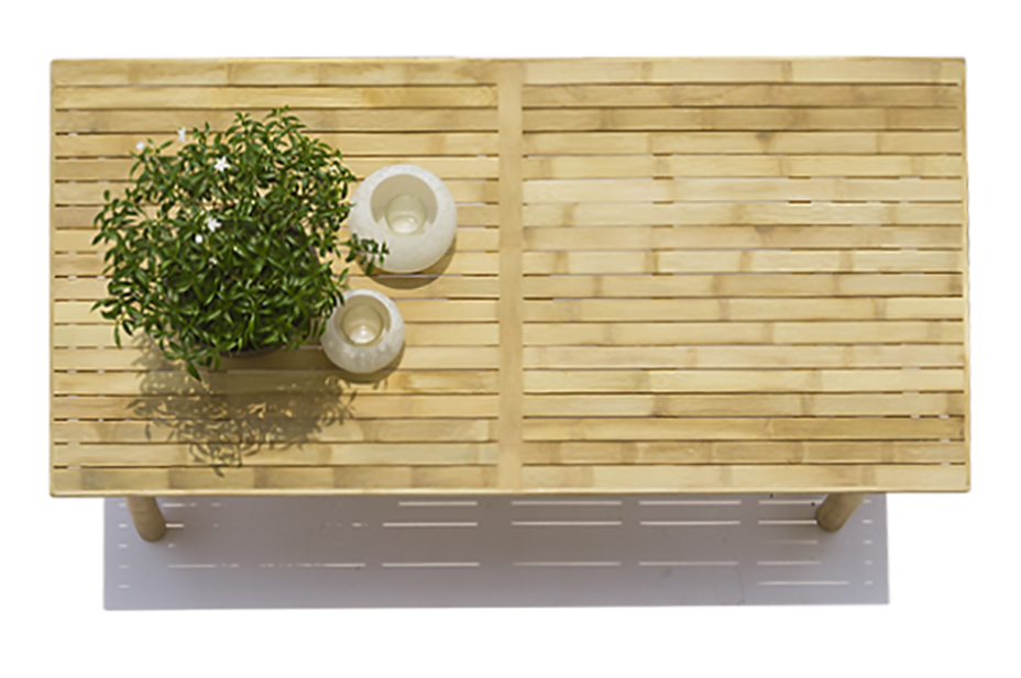 Out door table in bamboo