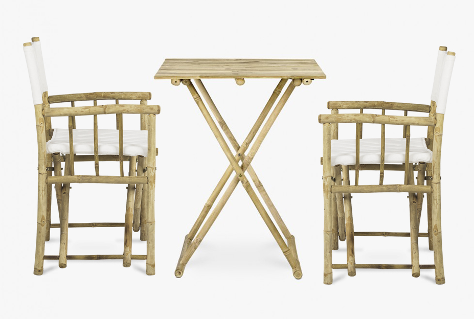 Out-door Bistro set in bamboo