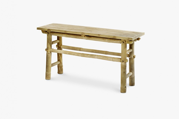 Outdoor bench in bamboo