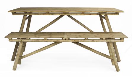 Mikado table and Mikado bench