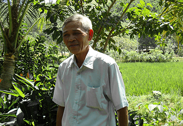 Bamboo Farmer in central Vietnam