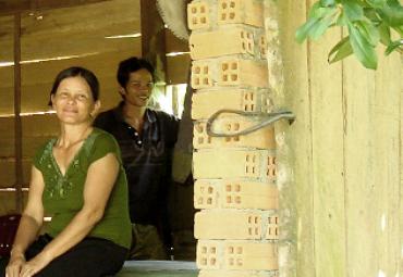 Bamboo farmer family