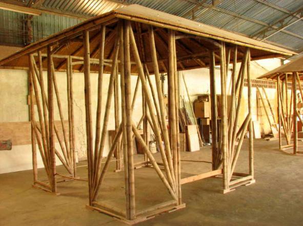 Garden bamboo pavilion
