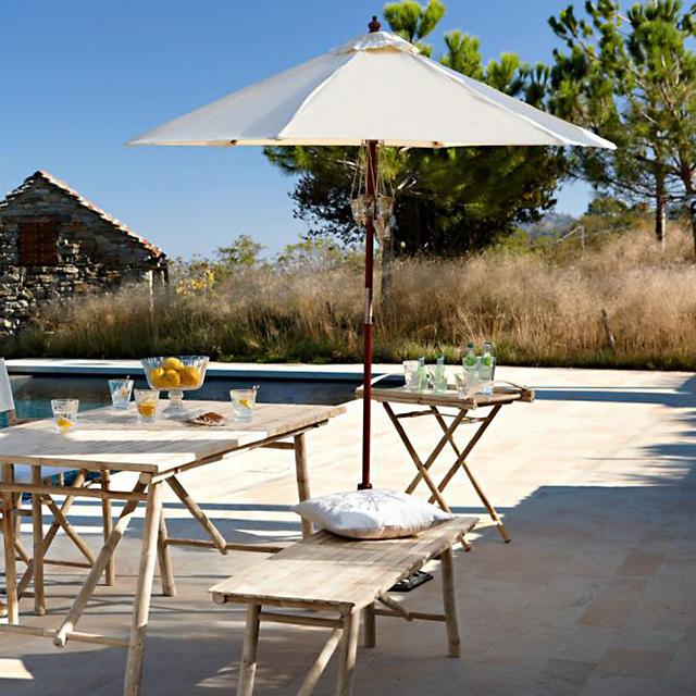 Swimming pool bamboo furniture